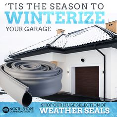 'Tis the season to winterize your garage! Don't get left out in the cold, order your new weather seals today! Garage Door Weather Stripping, Garage Door Weather Seal, Garage Door Insulation Kit, Garage Heater, Cooling Unit, Heating And Cooling, Garage Shop, Garage House, Garage Door Threshold