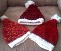 FREE crochet pattern for infant newborn or toddler Santa hat.