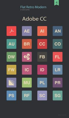 Flat Icons Adobe CC