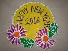 Rangoli Designs Photos, Beautiful Rangoli Designs, Welcome Rangoli, New Year Rangoli, Free Hand Rangoli Design, New Year Special, Kolam Rangoli, Simple Rangoli, Henna Patterns