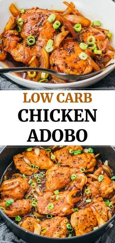 This easy dinner recipe is made on the … Best traditional filipino chicken adobo! This easy dinner recipe is made on the stovetop, and uses boneless skinless chicken thighs and simple ingredients. Chicken Thights Recipes, Low Carb Chicken Recipes, Cooking Recipes, Healthy Recipes, Cooking Tips, Bonless Chicken Recipes, Low Carb Chicken Thigh Recipe, Cooking Bacon, Freezer Cooking