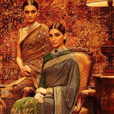 The Benarasi dream still lives on with Sabyasachi - fluid, earthy and charming. His style persona has always stuck to the same mold - maatha pattis, family portraits and old-school vintage glamour. And while it can be a tad bit repetitive, it's still Sabyasachi and it comes with it's own t