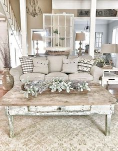 Wundervoll Cozy Farmhouse Living Room Decor Ideas