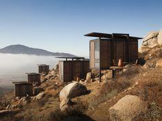カリフォルニアの山々を眺めることができるエコホテル。PHOTO BY GRACIASTUDIO