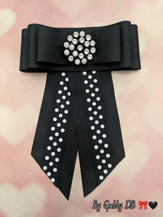 Polka Dotted Bow Brooch By: Gabby DB