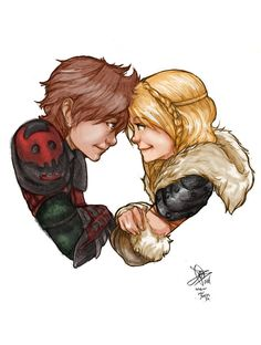 Hiccup and Astrid by Mister15to1.deviantart.com on @deviantART