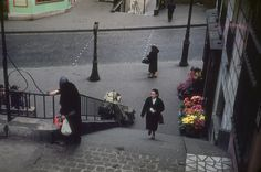 ERNST HAAS ESTATE | COLOR Flowers for Sale on Paris Street, 1954