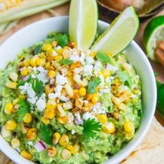 Charred Corn and Cotija Guacamole