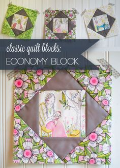 Classic Blocks: Fresh Fabric for March. the Economy Block , Basic Blocks: Contemporary Cloth for March. the Economic system Block Basic Blocks: Contemporary Cloth for March. the Economic system Block — Se. Quilting Tutorials, Quilting Projects, Quilting Designs, Sewing Tutorials, Sewing Projects, Quilting Ideas, Fun Projects, Quilt Block Patterns, Pattern Blocks