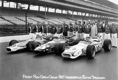 1967 Gurney - Andretti - Johncock - Indianapolis 500 Front Row - Photo Poster