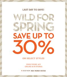 """Clever subtle use of animal print in this """"Wild for Spring"""" email from Banana Republic"""