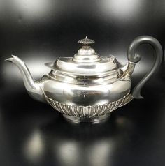 Englische Silber Teekanne 925 Sterling Silber Kanne Sheffield 1902