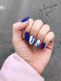 125 trendy, stunning manicure ideas for short acrylic nails .- 125 trendy, stunning manicure ideas for short acrylic nails design 00043 Best Acrylic Nails, Acrylic Nail Designs, Blue Nail Designs, Stylish Nails, Trendy Nails, Manicure E Pedicure, Manicure Ideas, Nail Ideas, Gel Manicure Designs