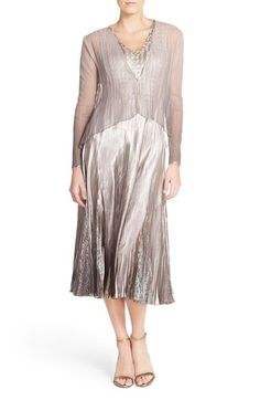 Komarov Sleeveless Charmeuse & Lace A-Line Dress with Chiffon Jacket available at #Nordstrom color??