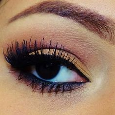This neutral eye makeup is great for an everyday look. Different shades of brown melt together perfectly.