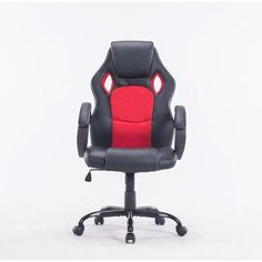 Newacme LLC MCombo High-Back Executive Chair Upholstery Color: Red/Black