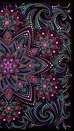 Fun Arst and crafts DIY - - Arst and crafts Christmas For Kids - Arst and crafts Windows - Arst and crafts Style Design Mandala Canvas, Mandala Artwork, Mandala Dots, Mandala Painting, Mandala Pattern, Dot Art Painting, Painting Patterns, Art Art, Abstract Art