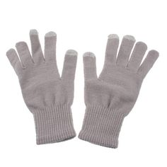 Gloves - gray cotton knitted $20