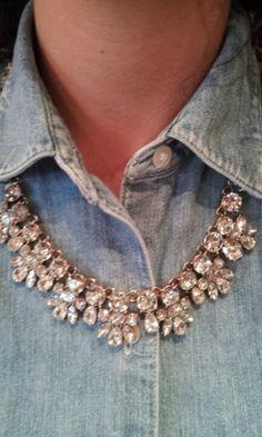 Gorgeous rhinestone necklace!