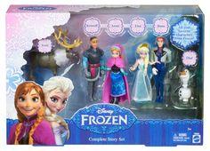 Disney Frozen Complete Story Doll Playset Elsa Anna Olaf Hans Kristoff #Disney