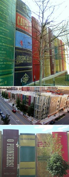 Wish all cities had a library parking garage like Kansas City, MO. Wow. I'm in love.  #ridecolorfully