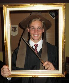 2014 Walker, sorting hat and wand in picture frame