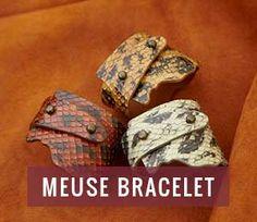 Meuse Collection - Leather Luxury Bracelets From Alligator, Snake & Stingray.