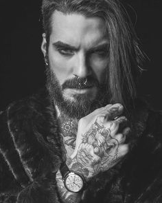 The quietly magnificent Heritage Retrograde from James McCabe Watches Shot by - mari Native American Women, American Indians, American Art, American History, Shave My Head, Viking Beard, Ginger Beard, Beard Love, Inked Men