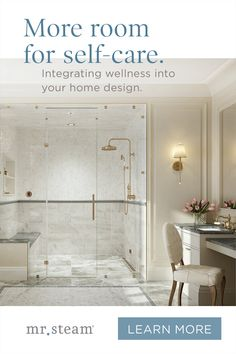 These easy and space-efficient ideas will help transform your home into a more restful, relaxing refuge. Bathroom Trends, Bathroom Renovations, Bathroom Ideas, Master Bathroom Shower, Small Bathroom, White Marble Bathrooms, Master Bath Remodel, Shower Remodel, Dream Bathrooms
