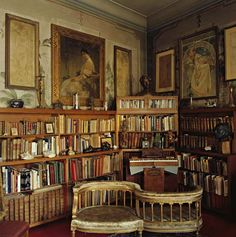 Alphonse Mucha's Library. Prague, Czech Republic.