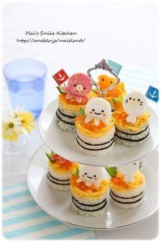 sea animals rice cake