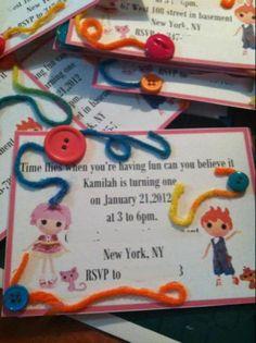 invitation lalaloopsy