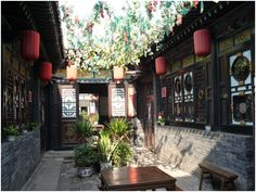Traditional Chinese Courtyard. Chinese Courtyard, Chinese Garden, China Architecture, Architecture Design, Chinese Buildings, Garden Design, House Design, Asian Furniture, Courtyard House