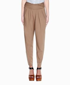 For you LES! Loose fitting straight leg pants in khaki. Very sharp.