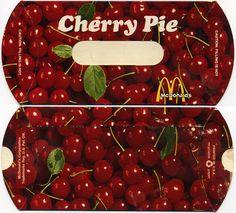 McDonalds - Cherry Pie horizontal pack - I remember! sooooooooooo yummy when they were fried in LARD!