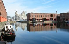 The Albert Dock with Liver Building in background