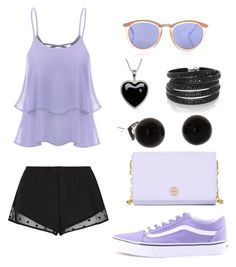 """""""Untitled #86"""" by prettyfashionist on Polyvore featuring Princesse tam.tam, Sif Jakobs Jewellery, Tory Burch, Le Specs, Vans and Lord & Taylor"""