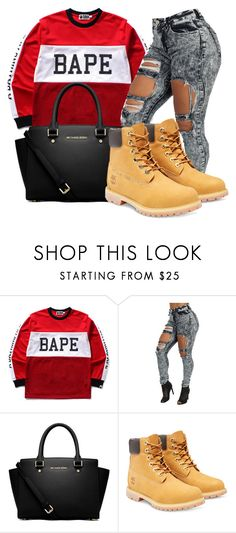 2.12.16 by themaiaeffect on Polyvore featuring A BATHING APE, Timberland and MICHAEL Michael Kors
