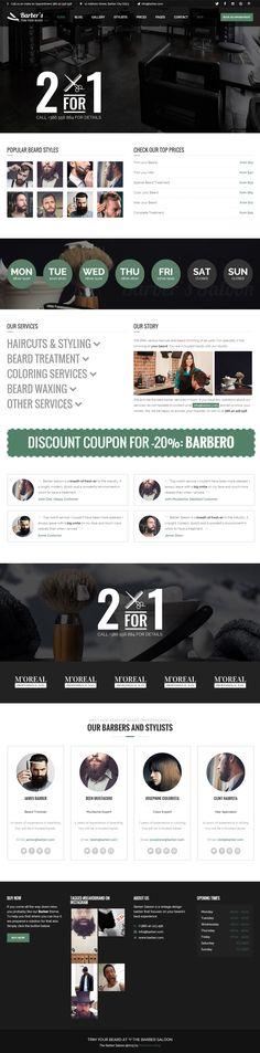 Barber is Premium full Responsive WordPress Hair Salon Theme. Retina Ready. Parallax Scrolling. Drag & Drop. Booking System. Test free demo at: http://www.responsivemiracle.com/cms/barber-premium-responsive-wordpress-theme-barbers-hair-salons/