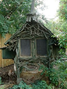 Driftwood Rabbit Hutch by rauter,lisa, via Flickr
