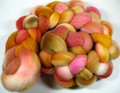 Burn 1  Falkland wool top for spinning and felting 4 by yarnwench, $15.00