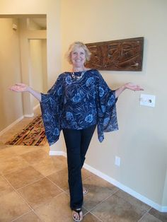 Lucky Sew and Sew: Silk chiffon blouse poncho....inspired by RTW