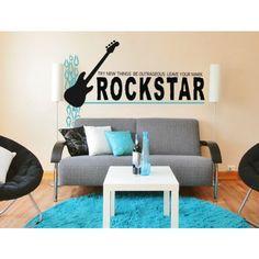 Alphabet Garden Designs Rock Star-Leave Your Mark Wall Decal - teen003