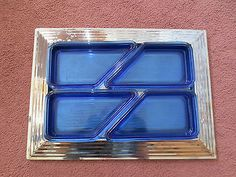 Norman Bel Geddes Skyscraper Serving Tray/except mine has clear glass inserts