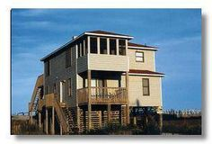 Gorgeous beach/ocean views and west sunsets. Spacious Great area with fireplace and wet bar. Attractive and very comfortable home in South Nags Head ...