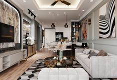 3237.Kitchen – Livingroom Scene 3dsmax File free download by Pham Huy Kien 3d Architecture, Architecture Visualization, 3d Living Room, Episode Backgrounds, Architectural Elements, 3d Design, Kitchen Interior, Kitchen Dining, Scene
