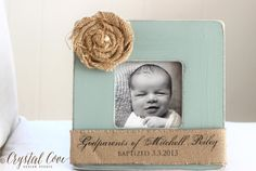 Baptism Christening Gift for Godparents Custom by CrystalCoveDS, $28.00