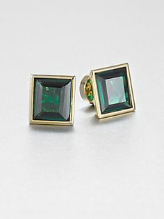 Michael Kors Emerald Cut Square Earrings