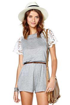 nasty gal. get busy romper. #fashion