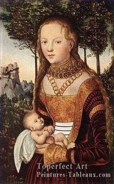 Jeune Mere et Enfant - Renaissance - Lucas Cranach la Elder